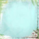 Fondo Aqua Blue del papel del Grunge del Teatime de Boho Fotos de archivo libres de regalías