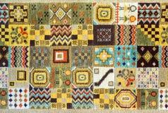 Fondo arabo di struttura del tappeto Fotografia Stock Libera da Diritti