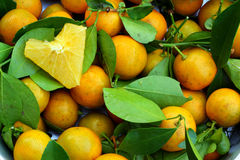Fondo arancio Fotografie Stock