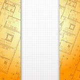 Fondo arancio architettonico. royalty illustrazione gratis