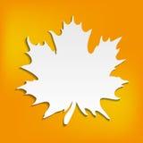 Fondo arancio astratto di autunno con il foglio bianco per il vostro testo, Immagini Stock
