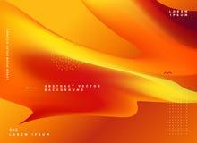 Fondo arancio astratto di vettore delle tonalità illustrazione vettoriale