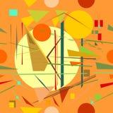 Fondo arancio astratto, modello senza cuciture 18--06 Illustrazione Vettoriale