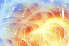 Fondo arancio blu Fotografia Stock