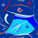 Fondo arancio blu astratto, modello senza cuciture 18-36 Illustrazione Vettoriale