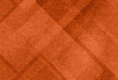 Fondo arancio con gli strati astratti delle forme strutturate bianche Fotografia Stock