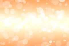 Fondo arancio con le bolle molli Fotografia Stock