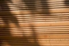 Fondo arancio con struttura del mattone Fotografie Stock Libere da Diritti