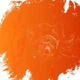 Fondo arancio d'annata illustrazione di stock