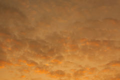 Fondo arancio del cielo Fotografie Stock Libere da Diritti