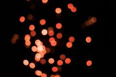 Fondo arancio del fuoco d'artificio Immagini Stock Libere da Diritti