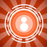 Fondo arancio del modello di tono dello sprazzo di sole della macchina fotografica Fotografia Stock