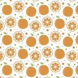Fondo arancio del modello wallpaper Fondo illustrazione di stock