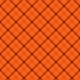 Fondo arancio del tessuto del plaid Fotografia Stock