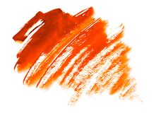 Fondo arancio dell'acquerello - struttura di carta Fotografie Stock
