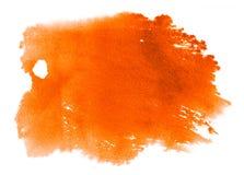 Fondo arancio dell'acquerello - struttura di carta Fotografia Stock Libera da Diritti