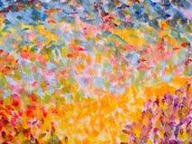 Fondo arancio dell'impressionista di punto culminante Fotografia Stock
