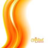 Fondo arancio della fiamma vago estratto Fotografie Stock Libere da Diritti