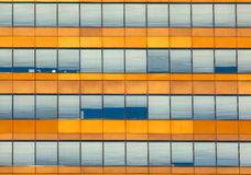 Fondo arancio della finestra dell'ufficio Immagine Stock Libera da Diritti