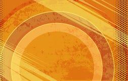 Fondo arancio di lerciume del libro di fumetti di vettore Illustrazione con i punti di semitono Fotografia Stock