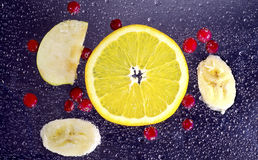 Fondo arancio di porpora del mirtillo rosso Immagine Stock