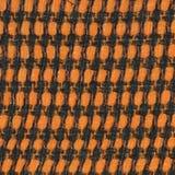 Fondo arancio di struttura del tessuto di cotone Immagine Stock