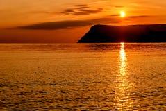 Fondo arancio di tramonto Fotografia Stock