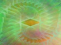 Fondo arancio di web di verde giallo del plasma astratto Immagini Stock