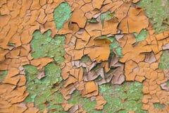 Fondo arancio e verde della pittura della sbucciatura fotografie stock libere da diritti