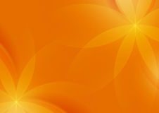 Fondo arancio floreale astratto per progettazione illustrazione di stock