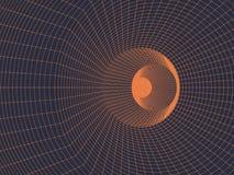 Fondo arancio geometrico di griglia di astrazione illustrazione vettoriale