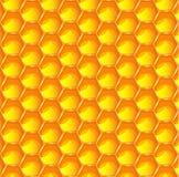 Fondo arancio luminoso del modello dell'estratto del favo Illustrazione prismatica esagonale delle cellule ENV 10 della cera Immagine Stock Libera da Diritti