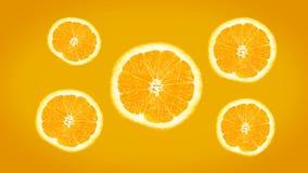 Fondo arancio succoso fresco luminoso 4K illustrazione vettoriale
