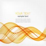 Fondo arancio trasparente astratto dell'onda Fotografia Stock