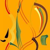 Fondo arancio verde astratto, modello senza cuciture 18-41 Illustrazione Vettoriale