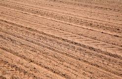 Fondo arato agricolo del modello del campo Fotografia Stock