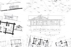 Fondo architettonico dei disegni della mano royalty illustrazione gratis