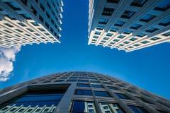 Fondo architettonico di affari moderni Fotografia Stock Libera da Diritti