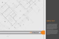 Fondo architettonico sul tavolo da disegno Fotografie Stock Libere da Diritti