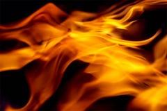 Fondo ardente arancio astratto dell'onda Fotografia Stock Libera da Diritti