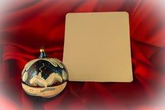 fondo Ardente-rosso per le congratulazioni sul Natale e sul nuovo YE Immagini Stock