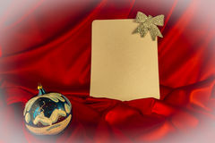 fondo Ardente-rosso per le congratulazioni sul Natale e sul nuovo YE Fotografie Stock Libere da Diritti