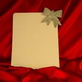 fondo Ardente-rosso per le congratulazioni sul Natale e sul nuovo YE Fotografie Stock