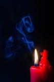 Fondo ardiente de la vela Imagen de archivo