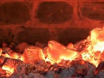 Fondo ardiente de los carbones Imagen de archivo libre de regalías
