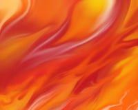 Fondo ardiente del fuego con las llamas en anaranjado rojo y amarillo brillantes Fotografía de archivo