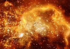 Fondo ardiente multicolor único de las ilustraciones de la galaxia de la nebulosa del extracto que brilla intensamente ilustración del vector