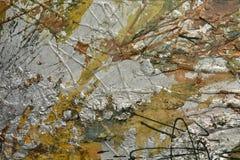 Fondo argentato della pittura a olio Fotografie Stock