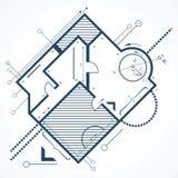 Fondo arquitectónico stock de ilustración