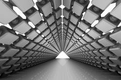 Fondo arquitectónico abstracto con un paso stock de ilustración